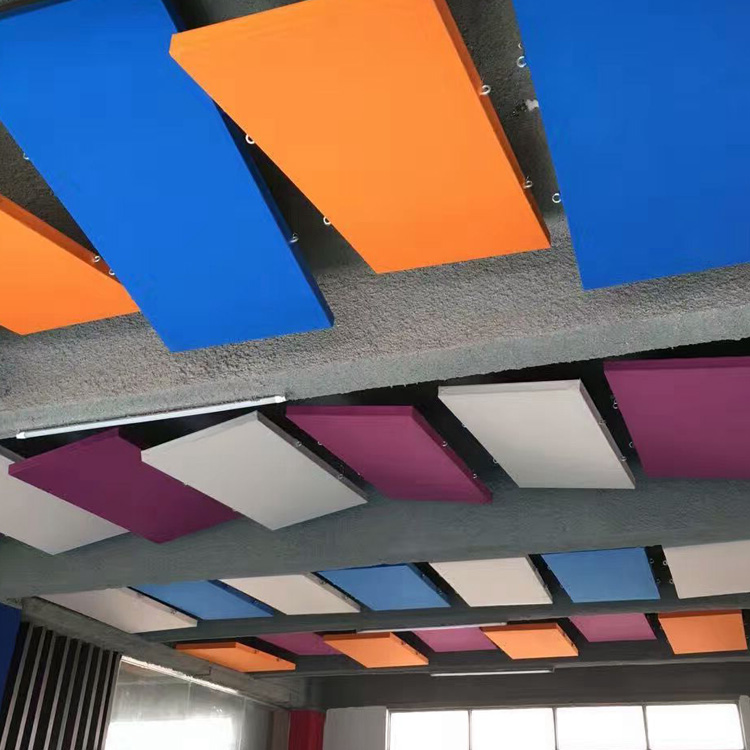 Fabric Suspended Ceiling Acoustic Absorber Aluminum Baffle