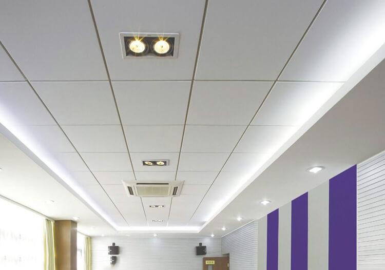 fiberglass acoustic ceiling project