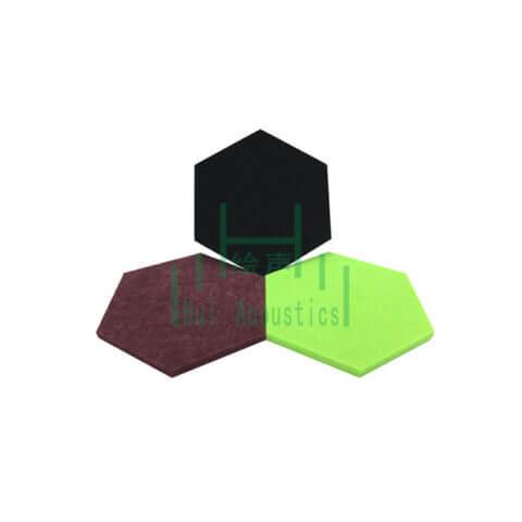 Hexagon Polyester Acoustic Wall Panel Hexagon Polyester Acoustic Panels Hexagonal Board